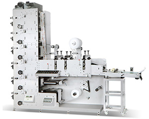 HSS-320G/450G three die cutting station flexo printing machine